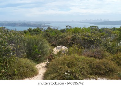 overlooking sydney harbor from north head quarantine station and memorial in manly new south wales australia