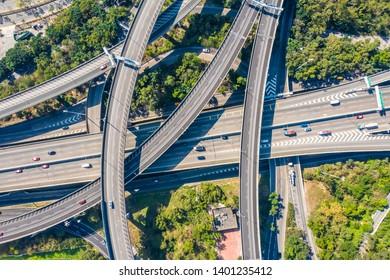 overlooking viaduct in Hong Kong China