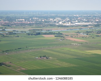 Overlooking view of Zwolle suburbs - Overijssel Region - Netherlands