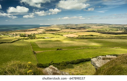 Overlooking the western side of the Isle of Wight from St. Catherine's Down