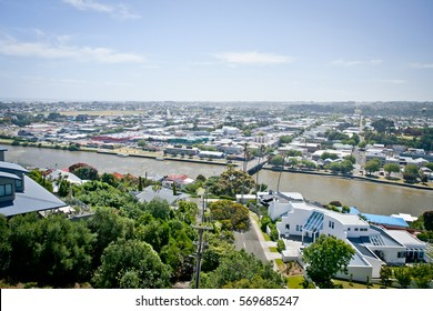 Overlooking the Whanganui River and City New Zealand. Photo taken from Durie Hill.