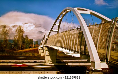 Overpass and Speeding Cars - Photograph taken at Tynehead Park in Surrey, British Columbia, Canada.