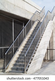 overpass stairs for walking along the side of the bridge