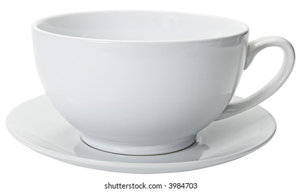 Oversized white coffee cup with close cropping.