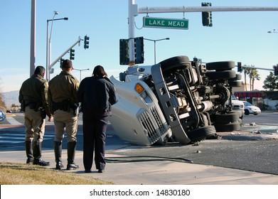 Overturned Truck, Las Vegas, Nevada