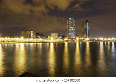 Overview of Barcelona Spain to Mananecer, Taken from the Barceloneta beach.