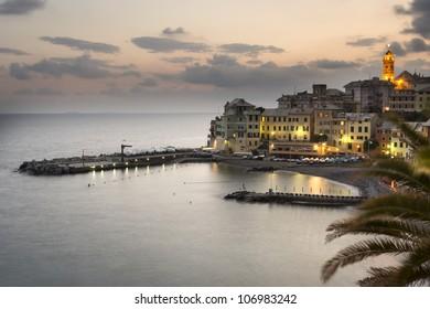 overview of Bogliasco,small village in Mediterranean sea, Italy