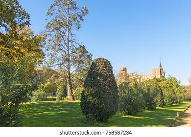 Overview of Citadel park. The Parc de la Ciutadella is a park on the northeastern edge of Ciutat Vella, Barcelona, Catalonia, Spain.