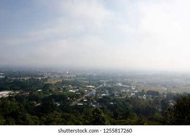 overview city in Nan province, Thailand