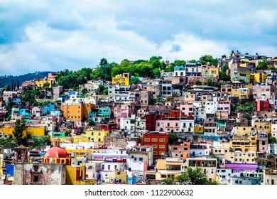 Overview of colorful city of Guanajuato. Mexico.