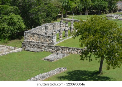 overview of colums at mayapan