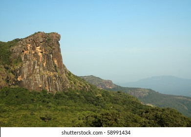 Overview of Dame de Mali in the Fouta Djalon mountains in Guinea