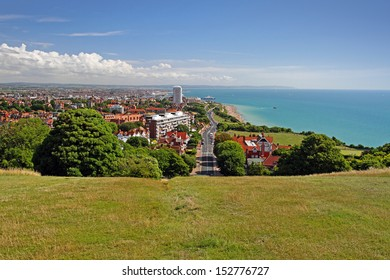 overview of eastbourne, east sussex, england, united kingdom
