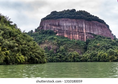 Overview of  the famous Mount Danxia, Guangdong, China
