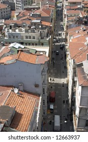 Overview of Istambul roofs from the tower Galata