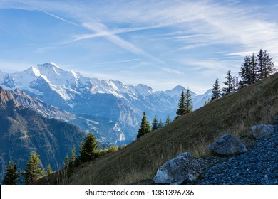 Overview of Jungfrau skyline from Schynige Platte walk, Interlaken