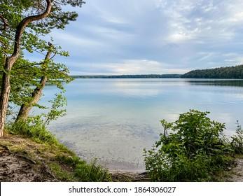 overview of Lake Stechlin, Brandenburg, Germany