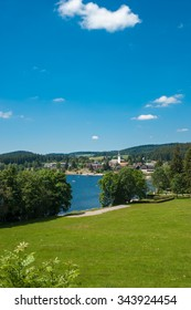 Overview of the lake Titisee, Black Forest, Baden-Wurttemberg, Germany, Europe