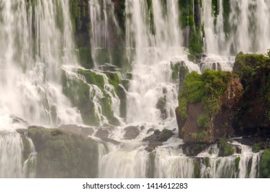 overview of landscape to iguacu waterfalls in Brazil