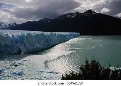 Overview of the magnificent landscape near the Perito Moreno Glacier.