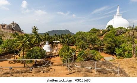 Overview on the Mihintale Temple area located at the top of Mahinda's Hill in  Sri Lanka
