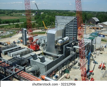 Overview of power plant under construction