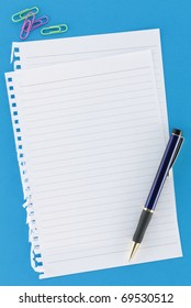 Overview Stationery Notepaper on Blue