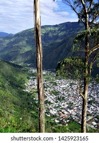 Baños Overview from the Top of the Andes Mountains, View from Luna Runtun Resort, The Andes Mountains, Tungurahua Province, Ecuador