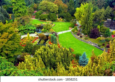 Overview of Vancouver Queen Elizabeth Park. More with keyword group14h