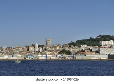 Overview of Vigo, the largest city in Galicia in northwestern Spain