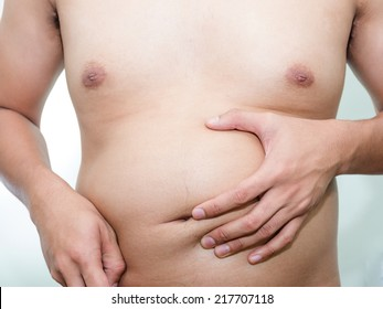 overweight problem of fat asian guy unwell shape diet issues