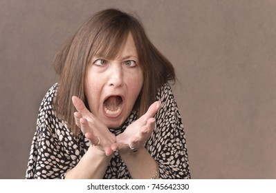 Overwhelmed woman goes insane