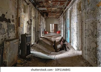 Ovid, New York, USA.  April 14, 2018.  Willard Asylum for the Chronic Insane