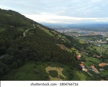 Oviedo, beautiful city of Asturias,Spain. Aerial Drone Photo