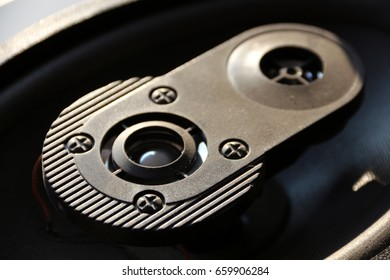 Ovoid Car Sound Speaker Close Up