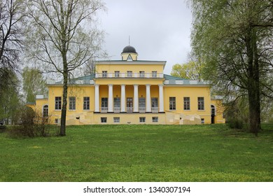 Ovstug, Bryansk region, Russia - May 3, 2105: Manor house in the estate-museum of the Russian poet, philosopher and diplomat Fyodor Tyutchev in the village Ovstug. - Shutterstock ID 1340307194