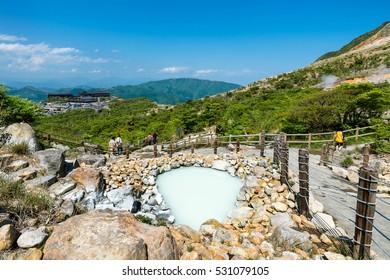 Owakudani  sulphur hot spring near Lake Ashi in Hakone, Kanagawa , Japan