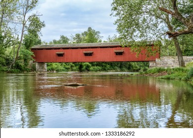 Owen County, Indiana's historic Cataract Covered Bridge crosses Mill Creek and was once one of the most famous and photographed covered bridges in the United States.