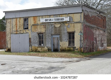 Owings,SC/USA-February 12 2018-:The old Bryson & Stoddard country store served  the town of Owings (Laurens County) SC / USA, now closed for decades, is 100 + years old and withstood the test of time.