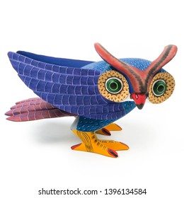 Owl alebrije wood carving sculpture mexican folk art decor
