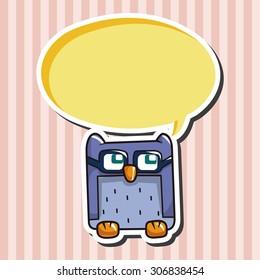 owl cartoon, cartoon speech icon