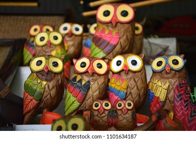 Owl shop in the floating market, thailand
