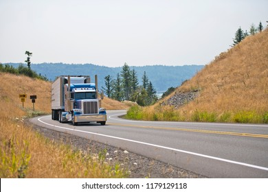 Owner - operators are the main core of the drivers of classic big rig semi trucks engaged in the transport of perishable goods in refrigerated trailers delivering goods in time to their places of use