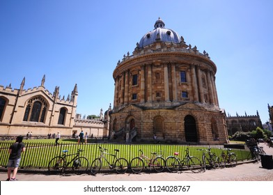 OXFORD -24 June 2018: Radcliffe Camera library at Oxford University which is the oldest university in the English-speaking world.