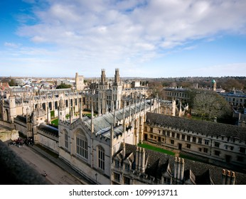 Oxford city from the top view