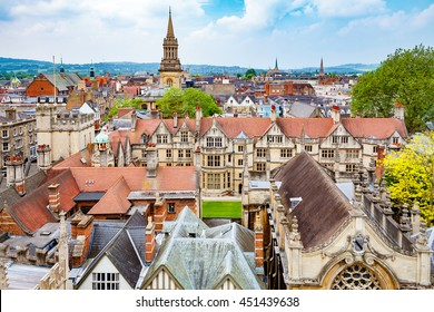 Oxford cityscape. Oxfordshire, England, UK