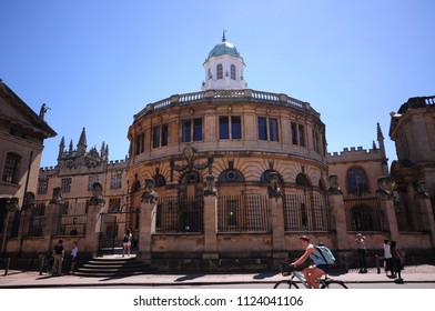 Oxford, England - 24 June 2018 : A View of Oxford in a beautiful sunny day,