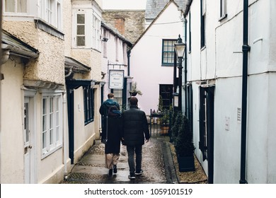 OXFORD, ENGLAND - JANUARY 25: A view on the streets in Oxford, England on 25 January, 2018