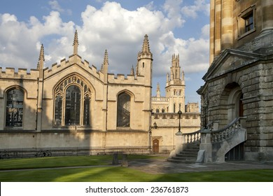 Oxford, England - July 10, 2014, The New Building of Oxford Magdalen College, on 10 July 2014
