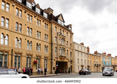 OXFORD, ENGLAND  - JULY 10, 2016: Architecture of Oxford, England. Oxford is known as the home of the University of Oxford